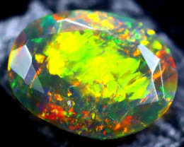 1.03cts Natural Ethiopian Faceted Smoked Black Opal / HM299