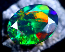 0.95cts Natural Ethiopian Faceted Smoked Opal / HM313
