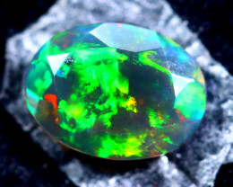 0.70cts Natural Ethiopian Faceted Smoked Opal / HM315