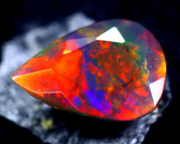 1.04cts Natural Ethiopian Faceted Smoked Opal / HM316