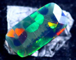 1.22cts Natural Ethiopian Faceted Smoked Opal / HM302