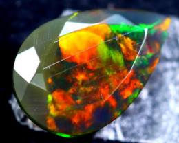 1.63cts Natural Ethiopian Faceted Smoked Opal / HM306