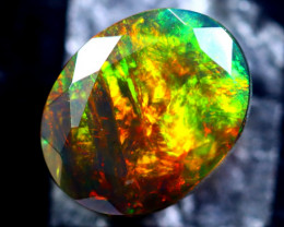 1.57cts Natural Ethiopian Faceted Smoked Opal / HM309