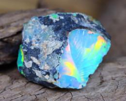 Welo Rough 6.68Ct Natural Ethiopian Gamble Rough Opal Cab Specimen D0102