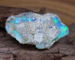 Welo Rough 16.48Ct Natural Ethiopian Gamble Rough Opal Cab Specimen D0109