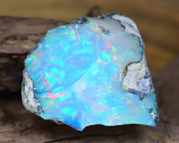 Welo Rough 8.90Ct Natural Ethiopian Play Of Color Facet Rough Opal E0101