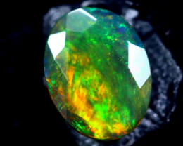 1.11cts Natural Ethiopian Smoked Faceted Opal / HM322