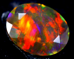 1.68cts Natural Ethiopian Smoked Faceted Opal / HM328