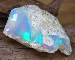 Welo Rough 10.59Ct Natural Ethiopian Play Of Color Facet Rough Opal F0104