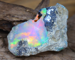 Welo Rough 8.60Ct Natural Ethiopian Play Of Color Facet Rough Opal F0105