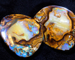 34.20 CTS  YOWAH OPAL NUT SPLITS ( 2 PCS ) POLISHED  NC-7387