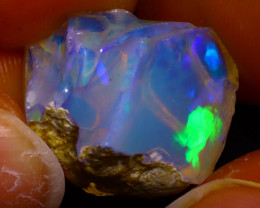 14.17Ct Multi Color Play Ethiopian Welo Opal Rough J0515/R2