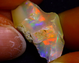 8.41Ct Multi Color Play Ethiopian Welo Opal Rough J0520/R2