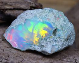 Welo Rough 9.18Ct Natural Ethiopian Play Of Color Facet Rough Opal D0205