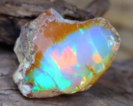 Welo Rough 7.29Ct Natural Ethiopian Play Of Color Facet Rough Opal E0201