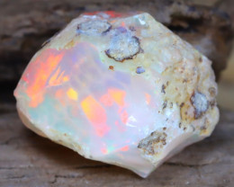 Welo Rough 6.23Ct Natural Ethiopian Play Of Color Facet Rough Opal F0204