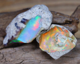 Welo Rough 10.07Ct Natural Ethiopian Play Of Color Facet Rough Opal F0207