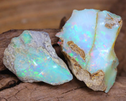 Welo Rough 14.31Ct Natural Ethiopian Play Of Color Facet Rough Opal F0209