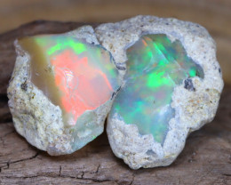 Welo Rough 13.62Ct Natural Ethiopian Play Of Color Facet Rough Opal F0211