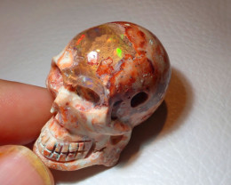 200ct Skull Mexican  Cantera Opal Figurine