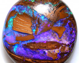 Private auction 42.63 CTS YOWAH  WOOD FOSSIL OPAL WELL POLISHED [BMA9585]