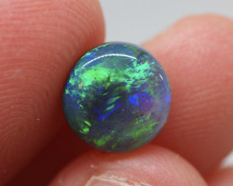 2.36CT Black Crystal Opal  Lightning Ridge  JS