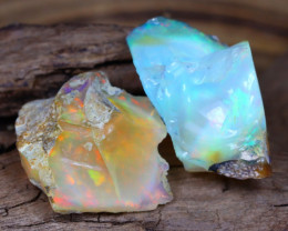 Welo Rough 14.85Ct Natural Ethiopian Play Of Color Facet Rough Opal E0301