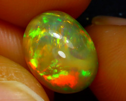 Welo Opal 2.90Ct Natural Ethiopian Play of Color Opa J0716/A44