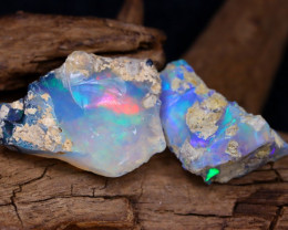 Welo Rough 14.09Ct Natural Ethiopian Play Of Color Facet Rough Opal F0401