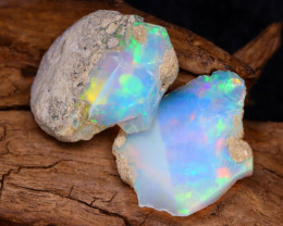 Welo Rough 7.46Ct Natural Ethiopian Play Of Color Facet Rough Opal F0408
