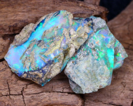 Welo Rough 13.73Ct Natural Ethiopian Play Of Color Facet Rough Opal F0411