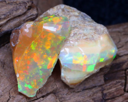 Welo Rough 14.45Ct Natural Ethiopian Play Of Color Facet Rough Opal F0409