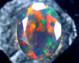 0.98cts Natural Ethiopian Smoked Faceted Opal / BF2205