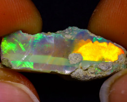 8.90Ct Multi Color Play Ethiopian Welo Opal Rough J0921/R2