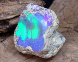 Welo Rough 7.22Ct Natural Ethiopian Play Of Color Facet Rough Opal E0507