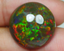 13.370 CRT DARK BASE ROUND PUZZLE HONEYCOMB FIRE WELO OPAL-