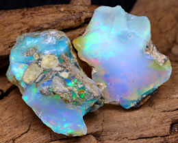 Welo Rough 16.16Ct Natural Ethiopian Play Of Color Facet Rough Opal F0503