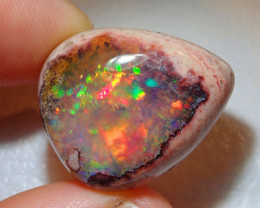 31.78ct Mexican Matrix Cantera Multicoloured Fire Opal