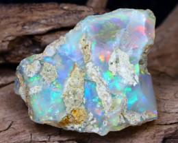 Welo Rough 15.60Ct Natural Ethiopian Play Of Color Facet Rough Opal E0711
