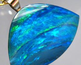 Australian Genuine Opal Pendant 14k Gold Doublet 5.95ct