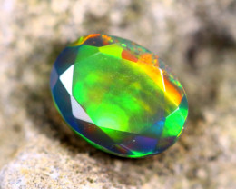 1.22cts Welo Natural Faceted Smoked Opal / HM75