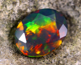 1.08cts Welo Natural Faceted Smoked Opal / HM73