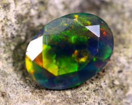 0.84cts Natural Ethiopian Faceted Smoked Opal / HM186