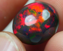 6.465 CRT AMAZING SMOKED RED PACTHWORK FLORAL FIRE WELO OPAL