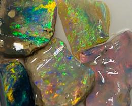 Vivid Colours - Bright Multicolour  Parcel of Rough to Cut