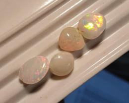 7.30 carat welo opal bead parcel 4 stones