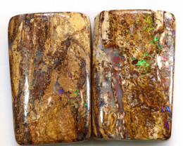 34.4 CTS BOULDER WOOD FOSSIL PAIR STONES NC-5050