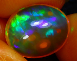 Welo Opal 3.74Ct Natural Ethiopian Play of Color Opal J1309/A44