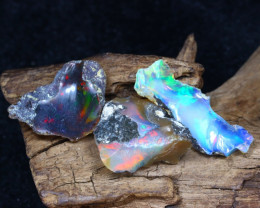 Welo Rough 12.41Ct Natural Ethiopian Play Of Color Rough Opal F1005