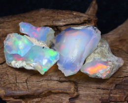 Welo Rough 14.60Ct Natural Ethiopian Play Of Color Rough Opal F1011